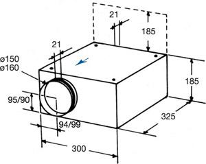 Вентилятор канальный KVO 160 - вид 2