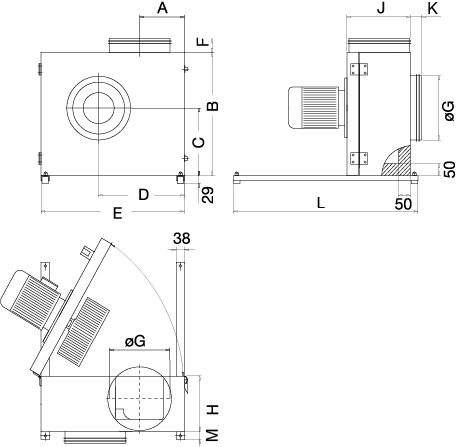 Вентилятор KBT 180E4 - вид 2