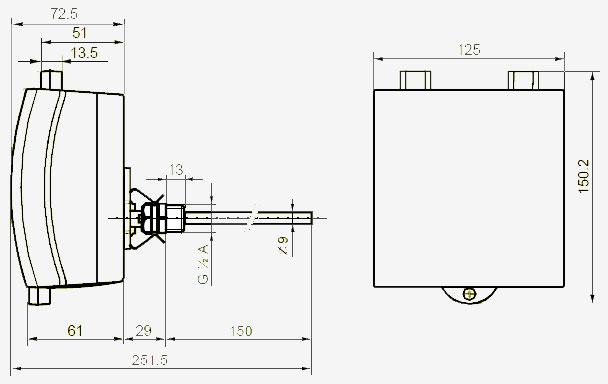 Контроллер температуры RLE162 - вид 2