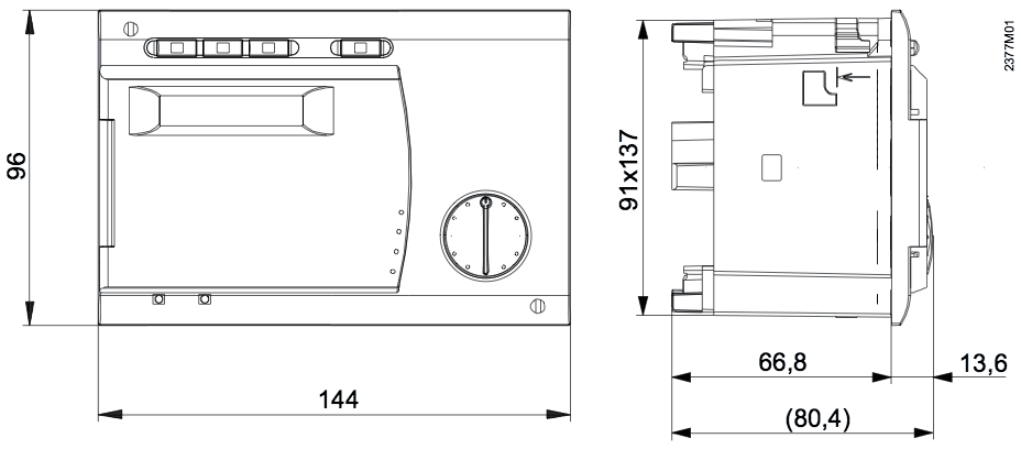 Контроллер RVA53.140/901 - вид 2
